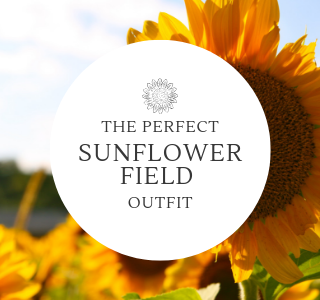 the perfect sunflower field outfit