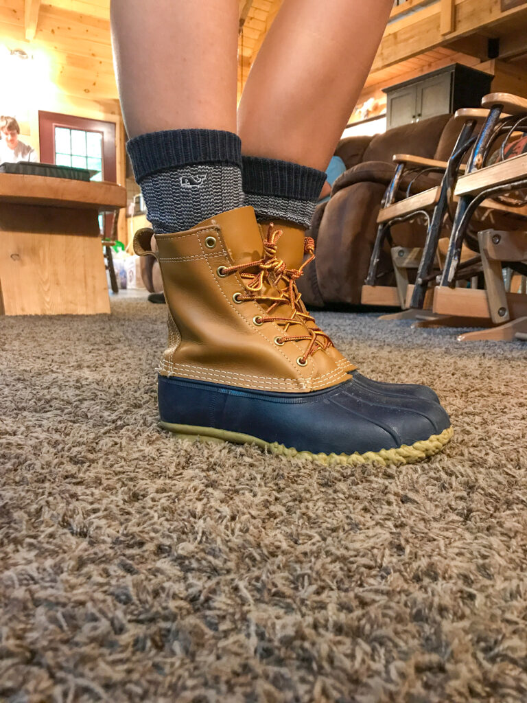 How to Style L.L. Bean Boots: with shorts or a skirt