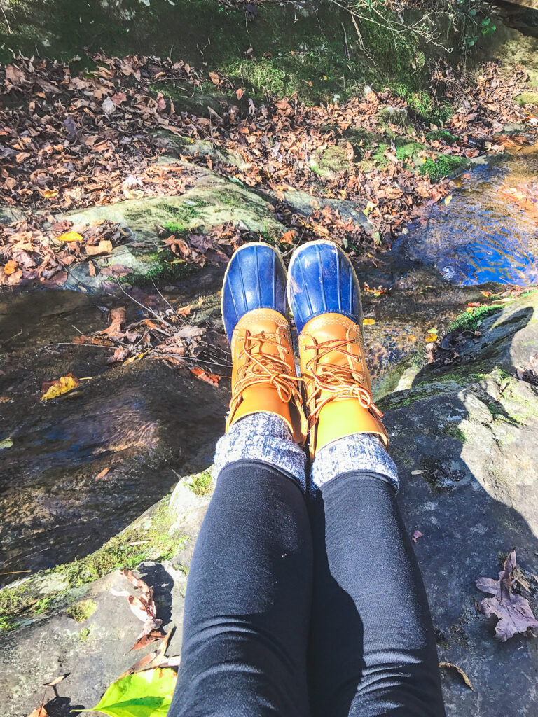How to Style L.L. Bean Boots with leggings