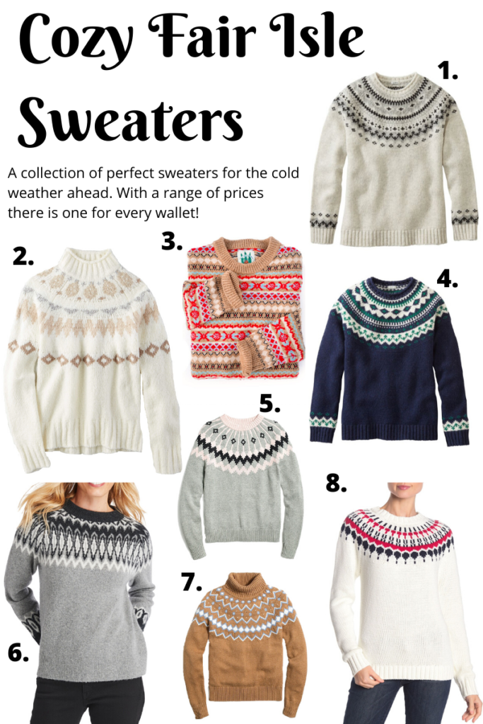 A collection of perfect sweaters for the cold weather ahead. With a range of prices there is one for every wallet!