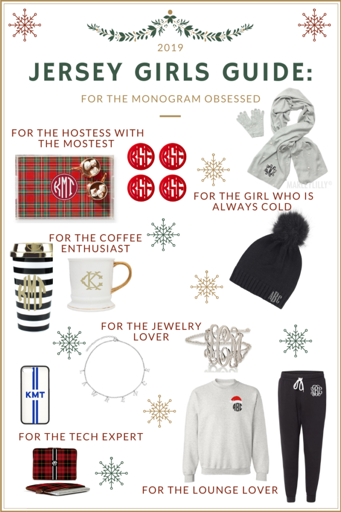 Jersey Girls Guide: To Gifts for the Monogram Lover